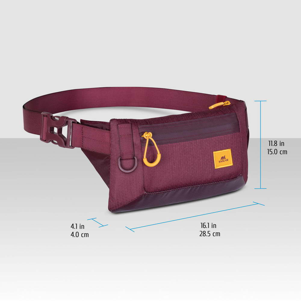 5311 burgundy red Waist bag for mobile devices