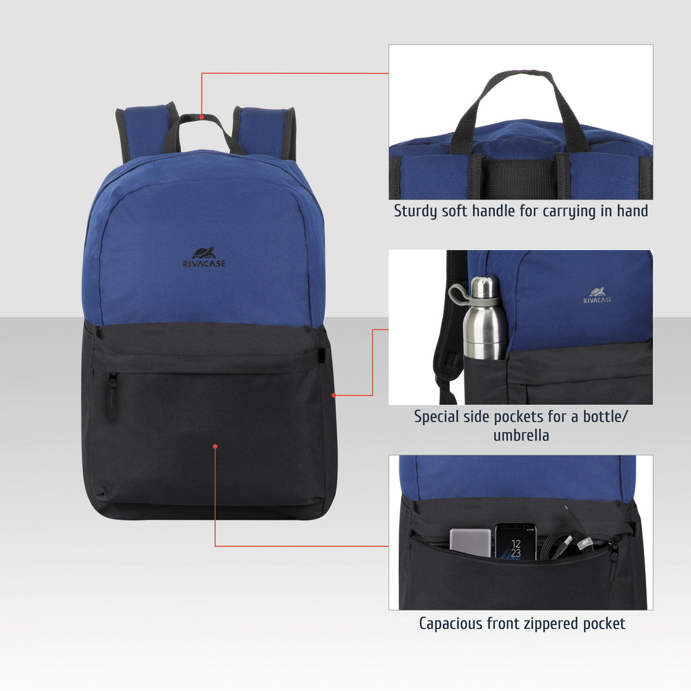 5560 cobalt blue/black 20L Laptop backpack 15.6