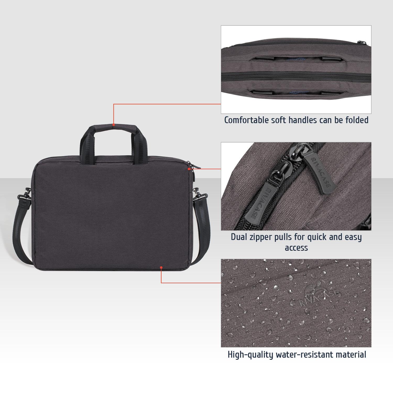 9d5739b1005f Laptop bags and briefcases: 7730 black Laptop shoulder bag 15.6