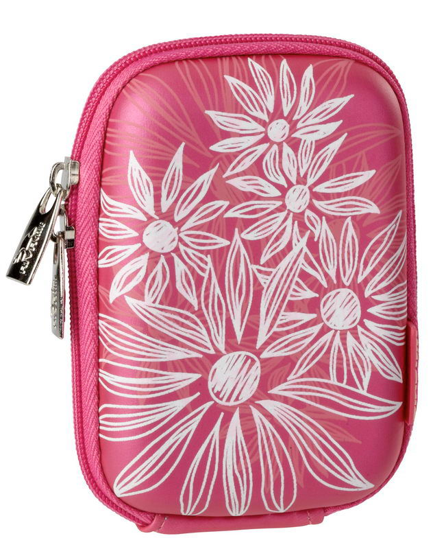 7022 (PU) Digital Case crimson pink (flowers)