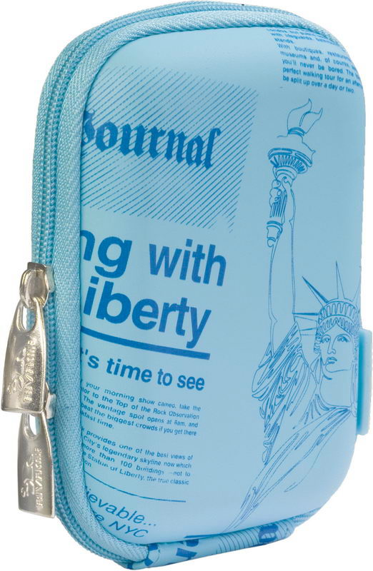 7103 (PU) Digital Case shallow blue (newspaper)