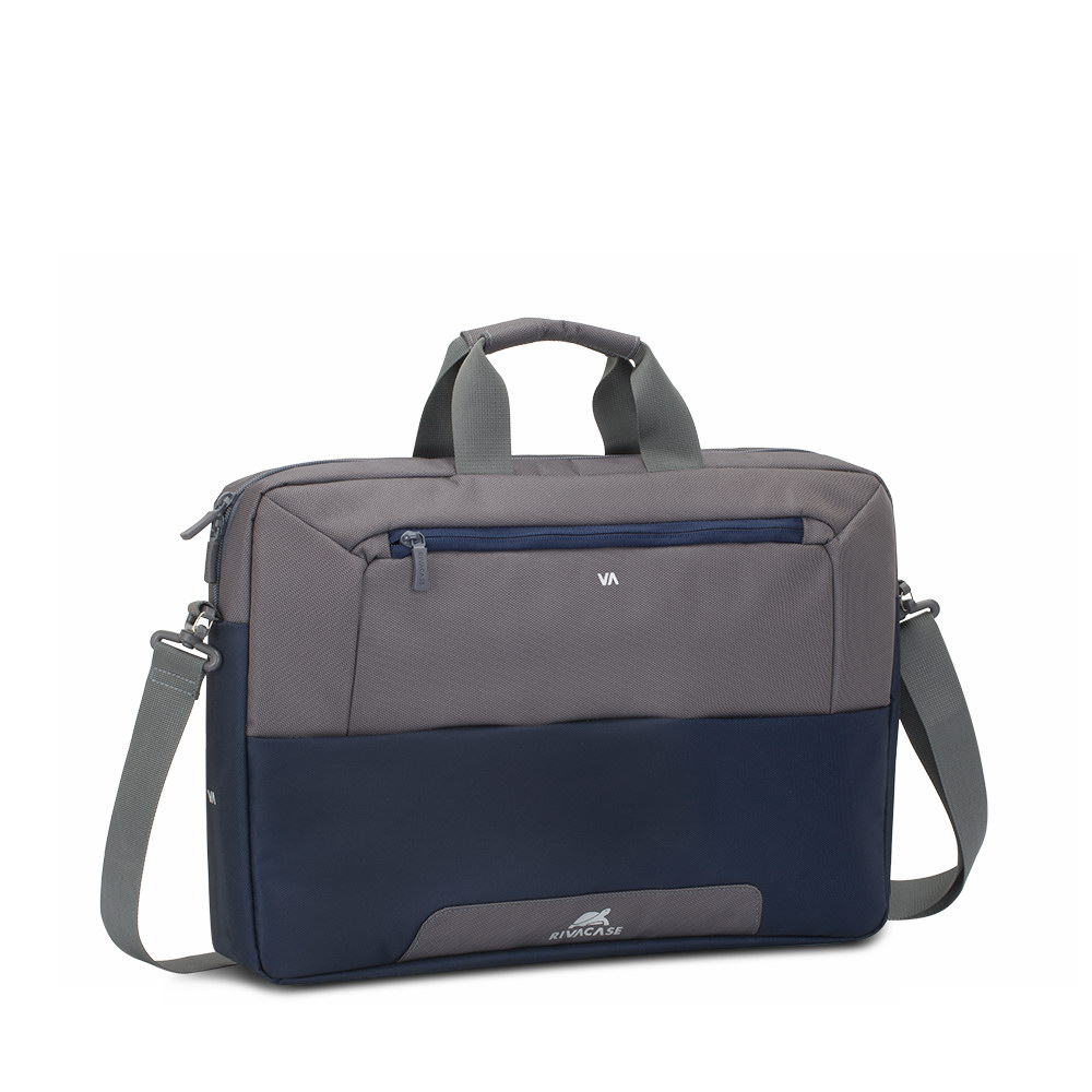 7757 steel blue/grey Laptop shoulder bag 17.3
