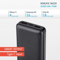 VA2120 (20000mAh), portable rechargeable battery RU
