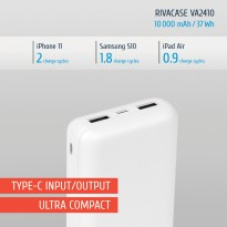 VA2410 (10000mAh) white, portable rechargeable battery