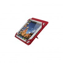 3207 red kick-stand tablet folio 10.1
