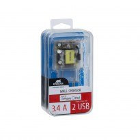 VA4125 TD2 EN wall charger (2 USB /3.4 A), with MFi Lightning cable