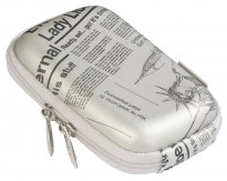 7023 (PU) Digital Case silver (newspaper)