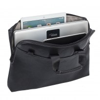 8931 (PU) black slim Laptop bag 15.6