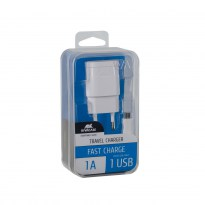 VA4111 WD1 EN wall charger (1 USB /1 A), with Micro USB cable