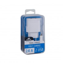 VA4122 WD1 EN wall charger (2 USB /2.4 A), with Micro USB cable