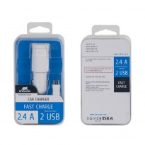 VA4222 WD1 EN car charger (2 USB /2.4 A), with Micro USB data cable